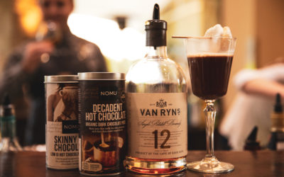 Own the cold with Van Ryn's brandy and NOMU's hot choctails
