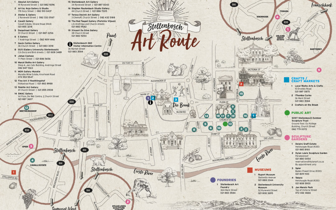 The launch of the Stellenbosch Art Route - Stellenbosch Visio on bridge street map, road map, parking lot map, jackson street map, a street art, a street intersection, washington street map, weather map, state map, detailed street map, physical map,
