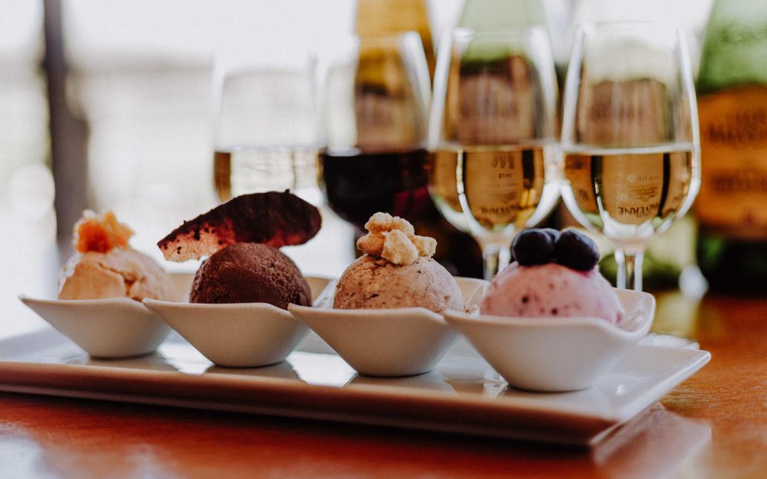 Clos Malverneice cream and wine pairing