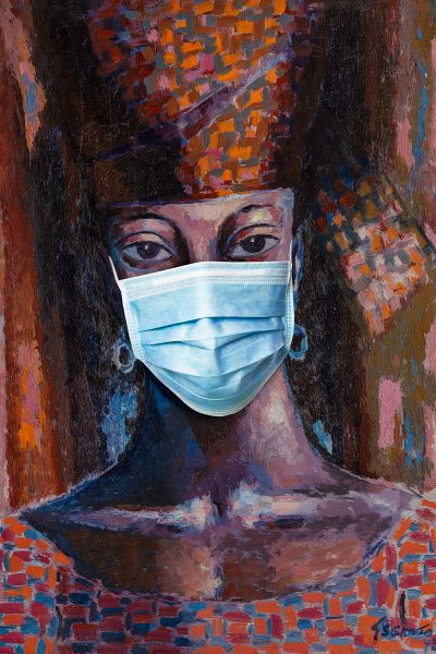 Gerard Jan Sekoto - The Senegal Woman - mask 200mmH